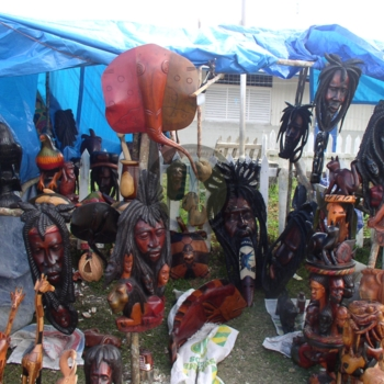 Craft items  displayed for sale at the January 6 celebration in Accompong Town.jpg