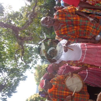 Libation is a part of the ritual that takes place  under the Kindah Tree.jpg