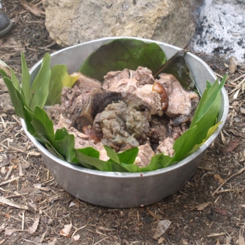 Sacred  Pork  prepared for the ancestors  on January 1 by the Accompong Maroons.jpg